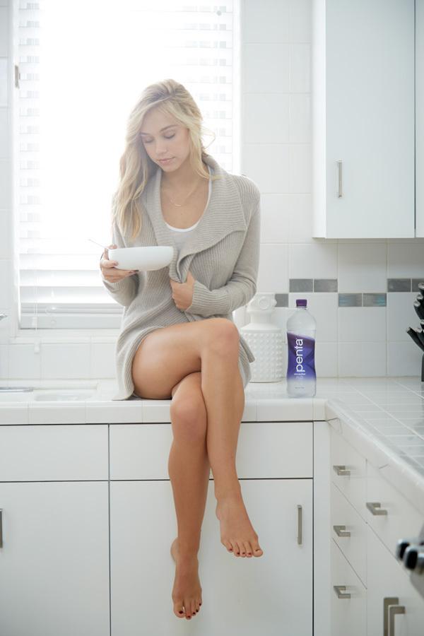 Legs spread open