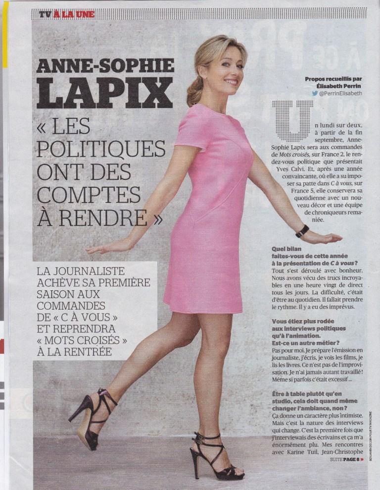 Anne-Sophie Lapix  nackt