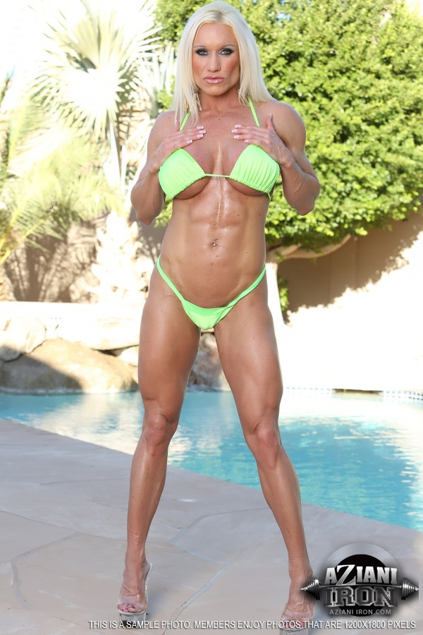 Naked female bodybuilder ashlee chambers sexy workout - 1 1