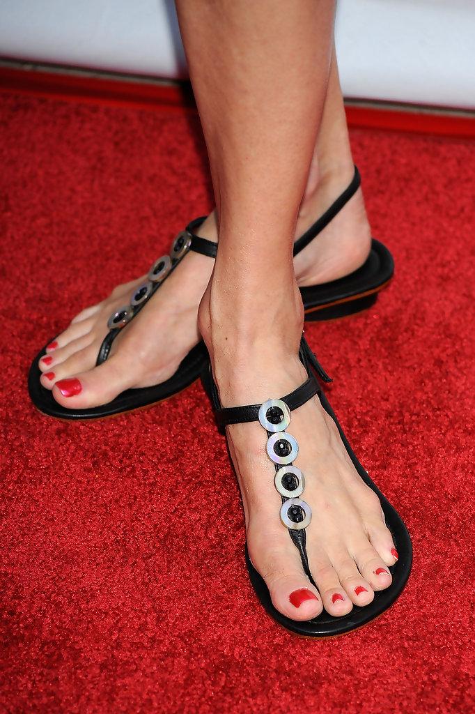 Ebony feet in sandals and flip flops