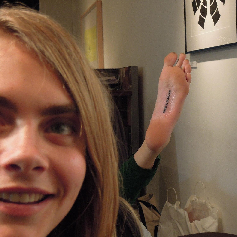 Cara Delevingne's Feet