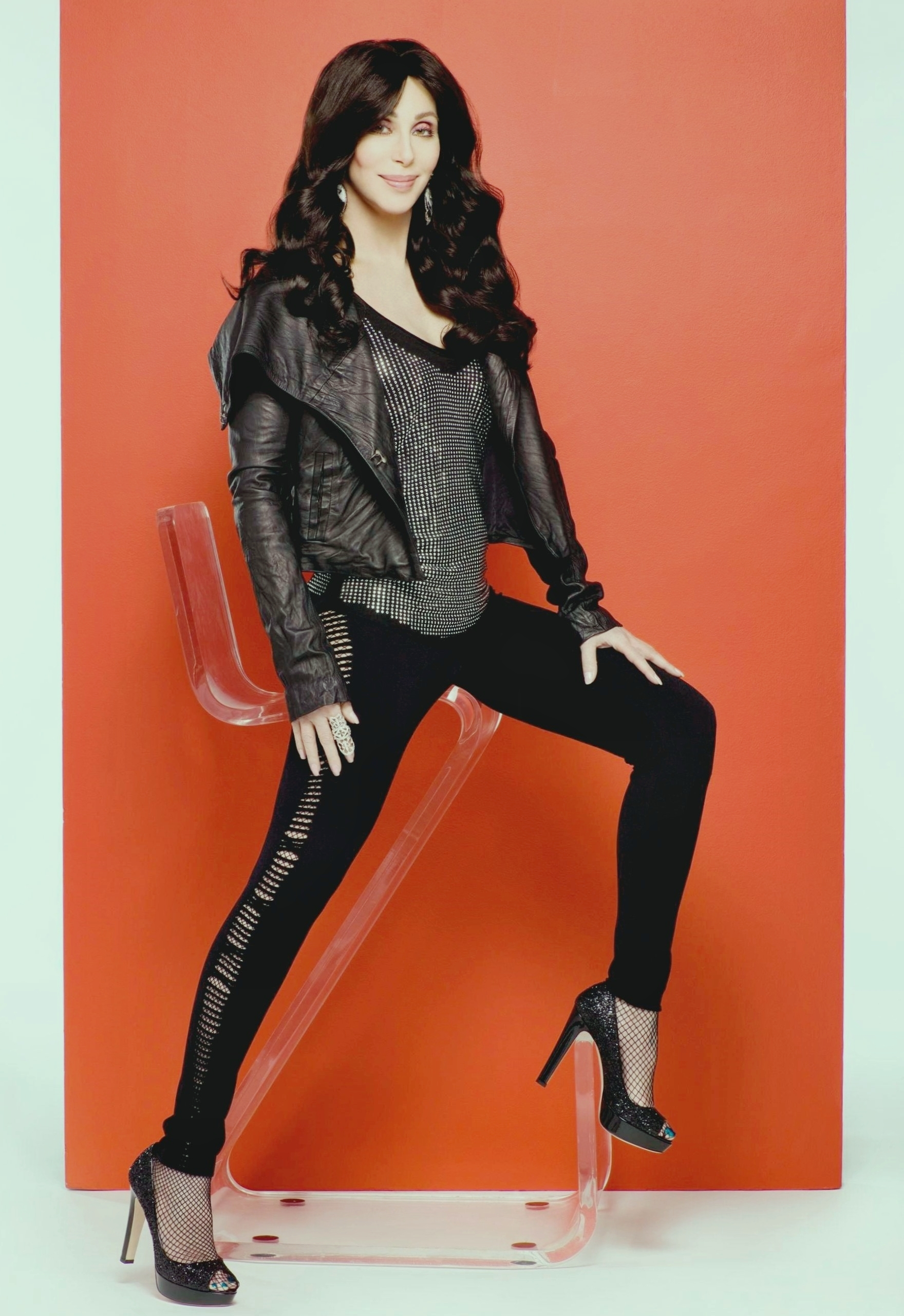 Cher in pantyhose