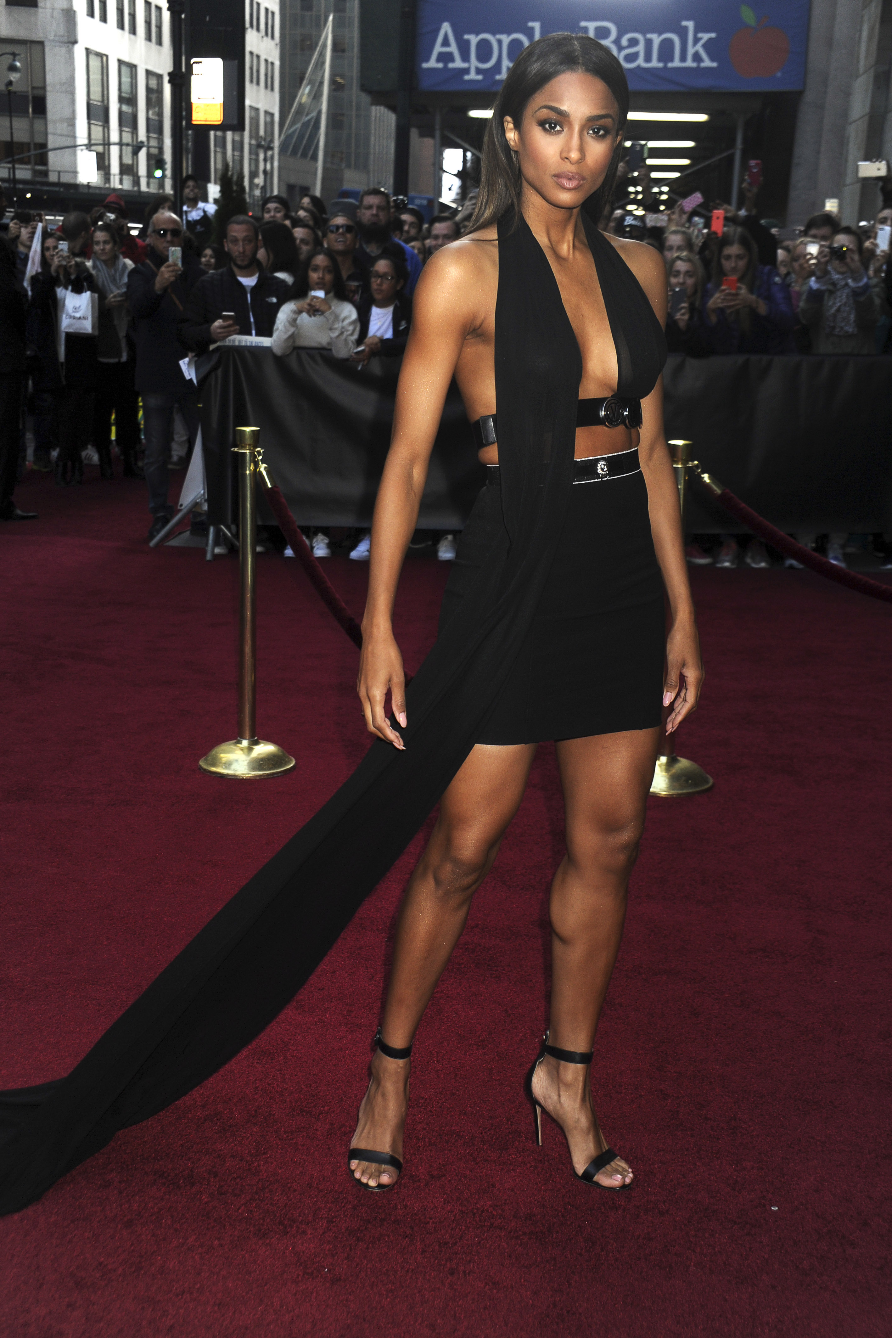 Ciara steals the spotlight in a barely-there miniskirt at
