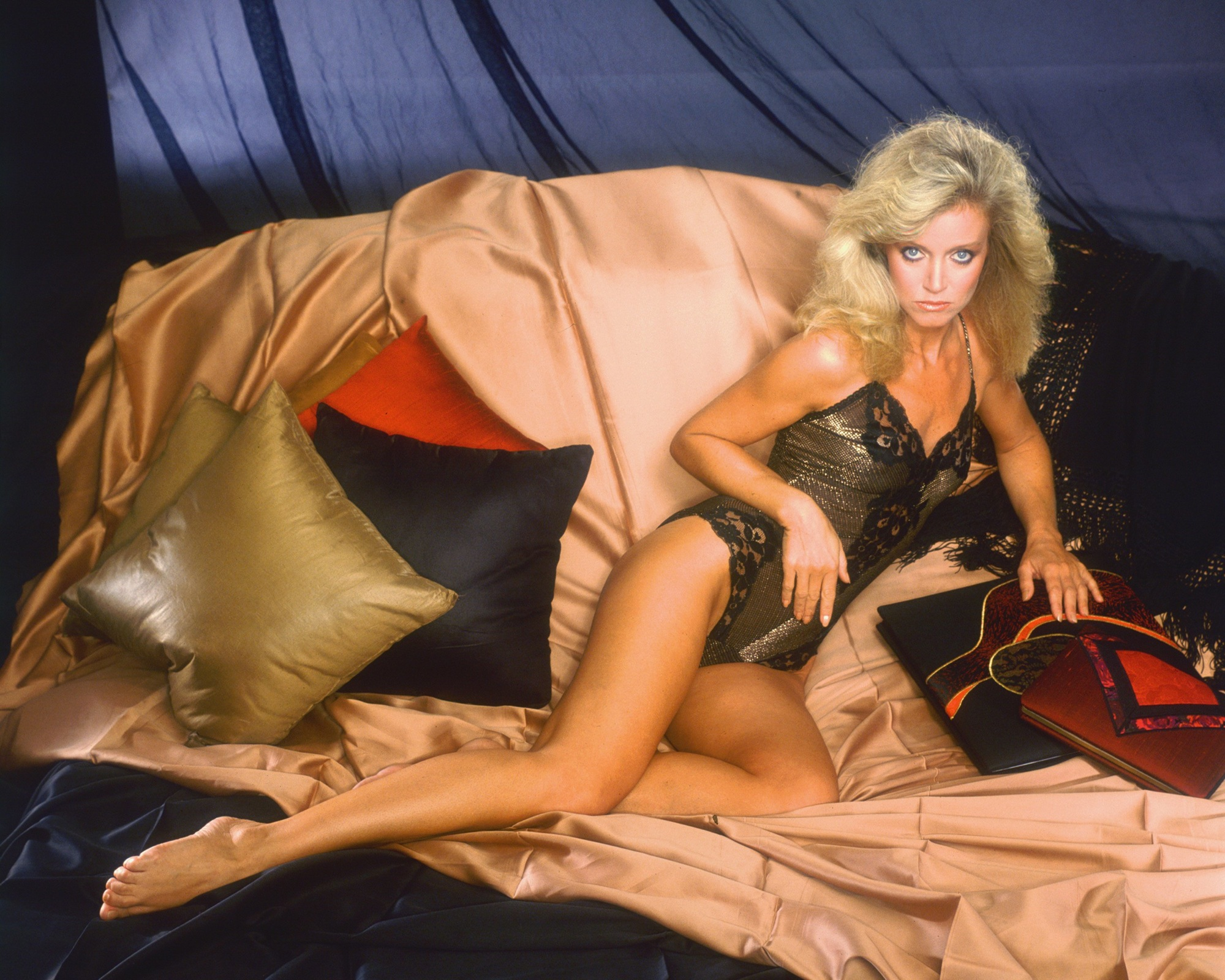 donna mills in lingerie