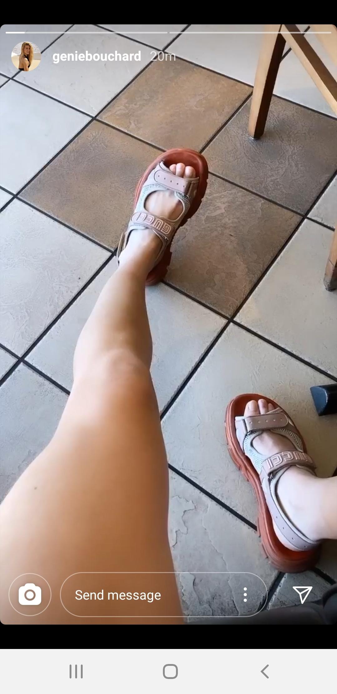 Feet eugenie bouchard Genie Bouchard's