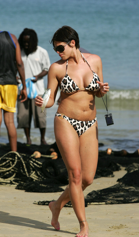 Fergie green bikini