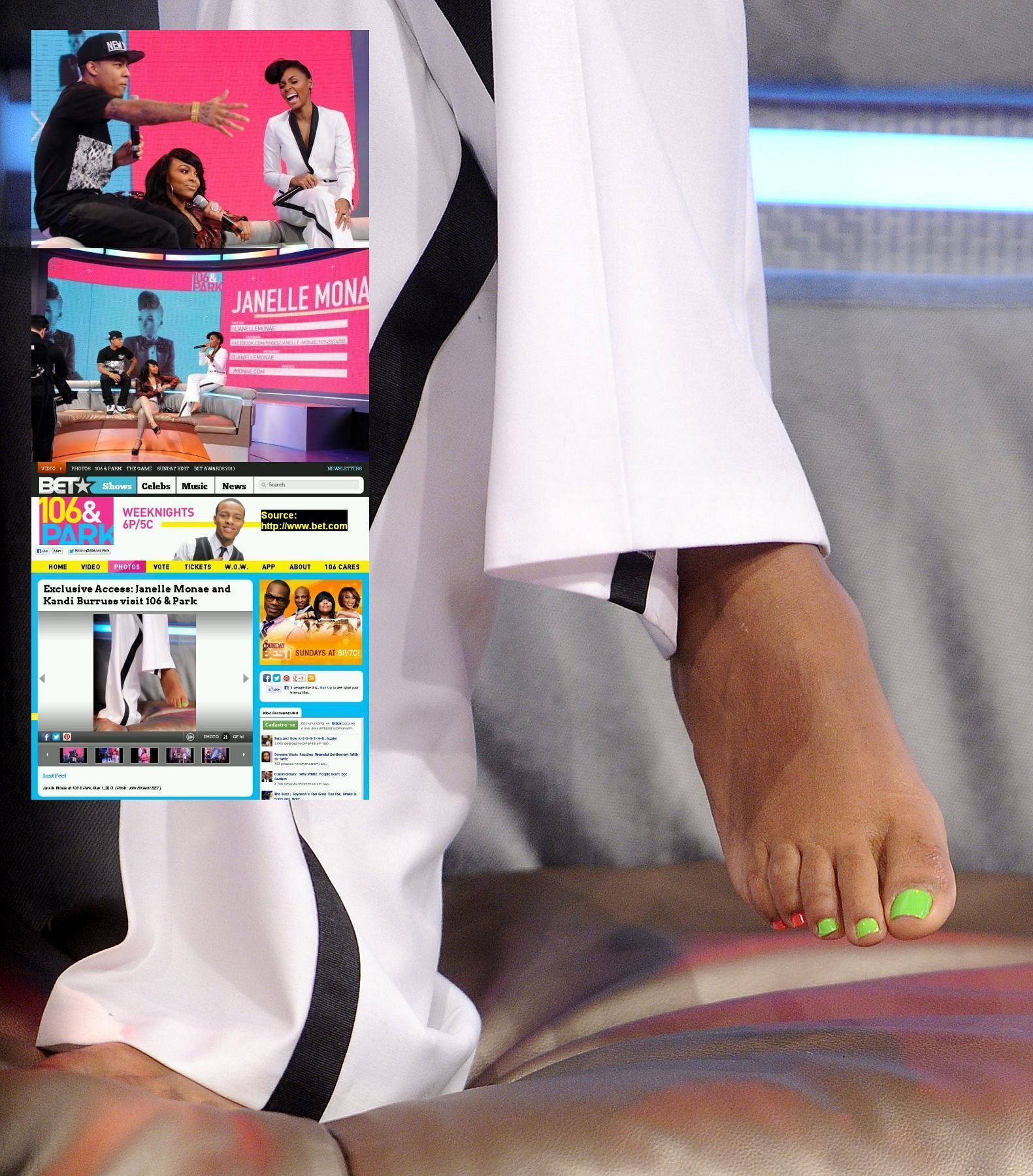 Janelle Monae's Feet K Michelle And Rasheeda 2013