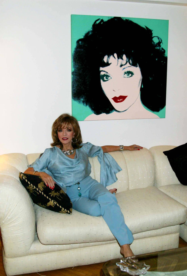Joan collins foot fetish