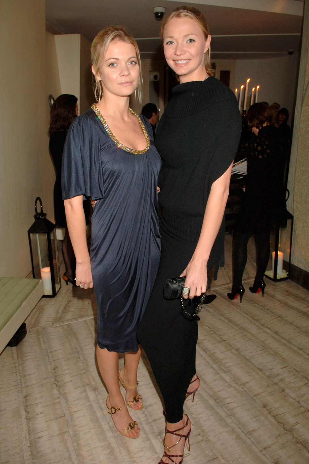 Photo of Jodie Kidd & her friend celebrity  Jo -