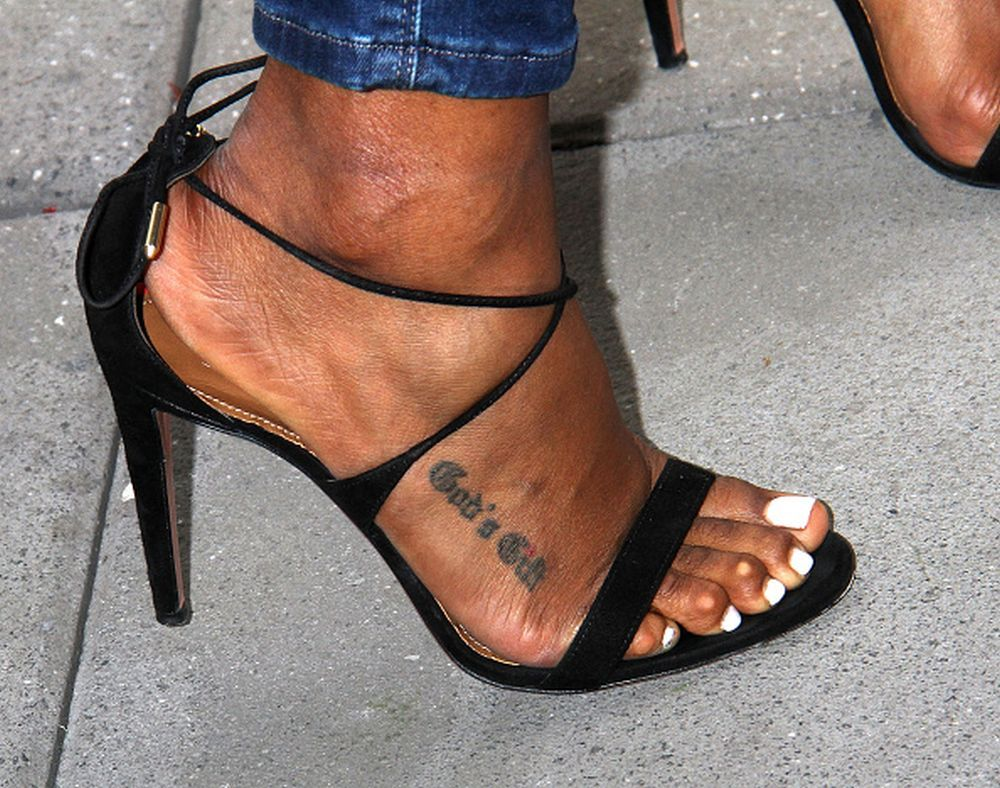 Beautiful black sandals feet amp pussy show 6