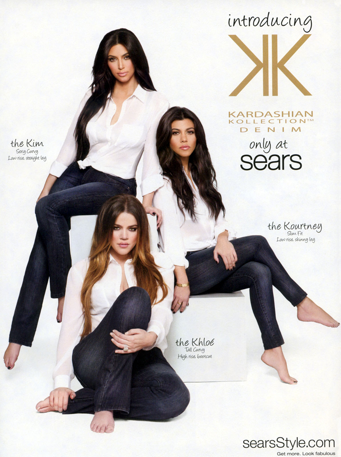 GirlsWithBareFeet - Three Kardashians in an ad.