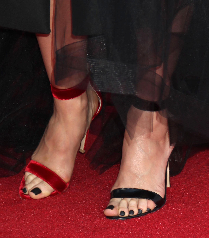 Office pantyhose foot worship