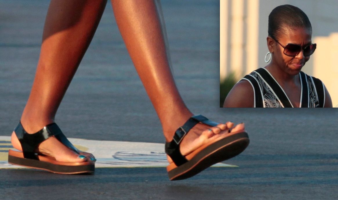 Michelle Obamas Feet
