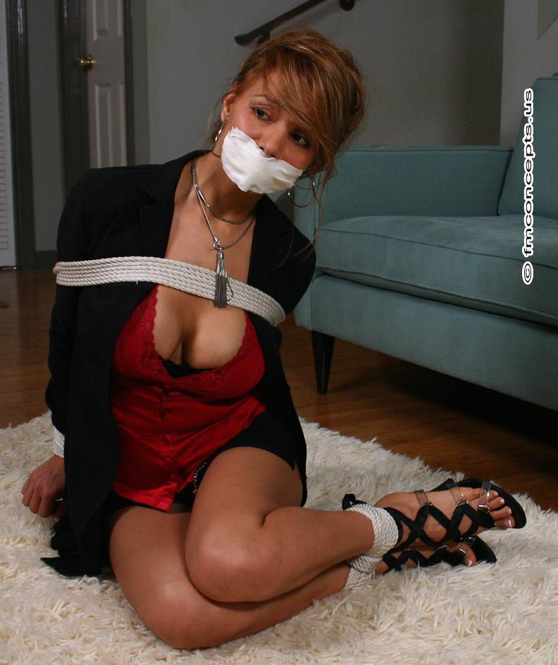Sexy secretary bondage
