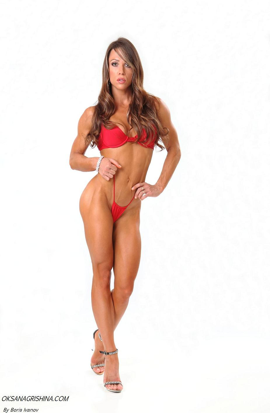 IFBB Fitness Pro Oksana Grishina's update video: http://www.getbig.com/boards/index.php?topic=477362.25