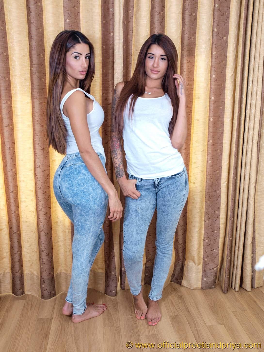 Indian twins preeti and priya