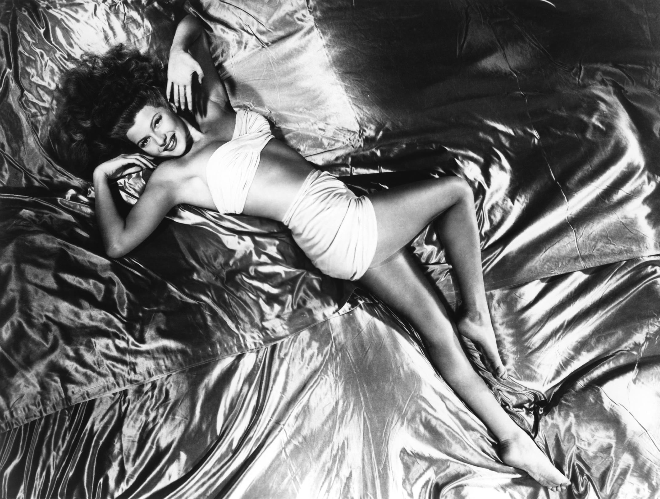 "Rita Hayworth and the Bee Gee's ""Staying Alive"" | Racing ...  |Rita Hayworth Feet"