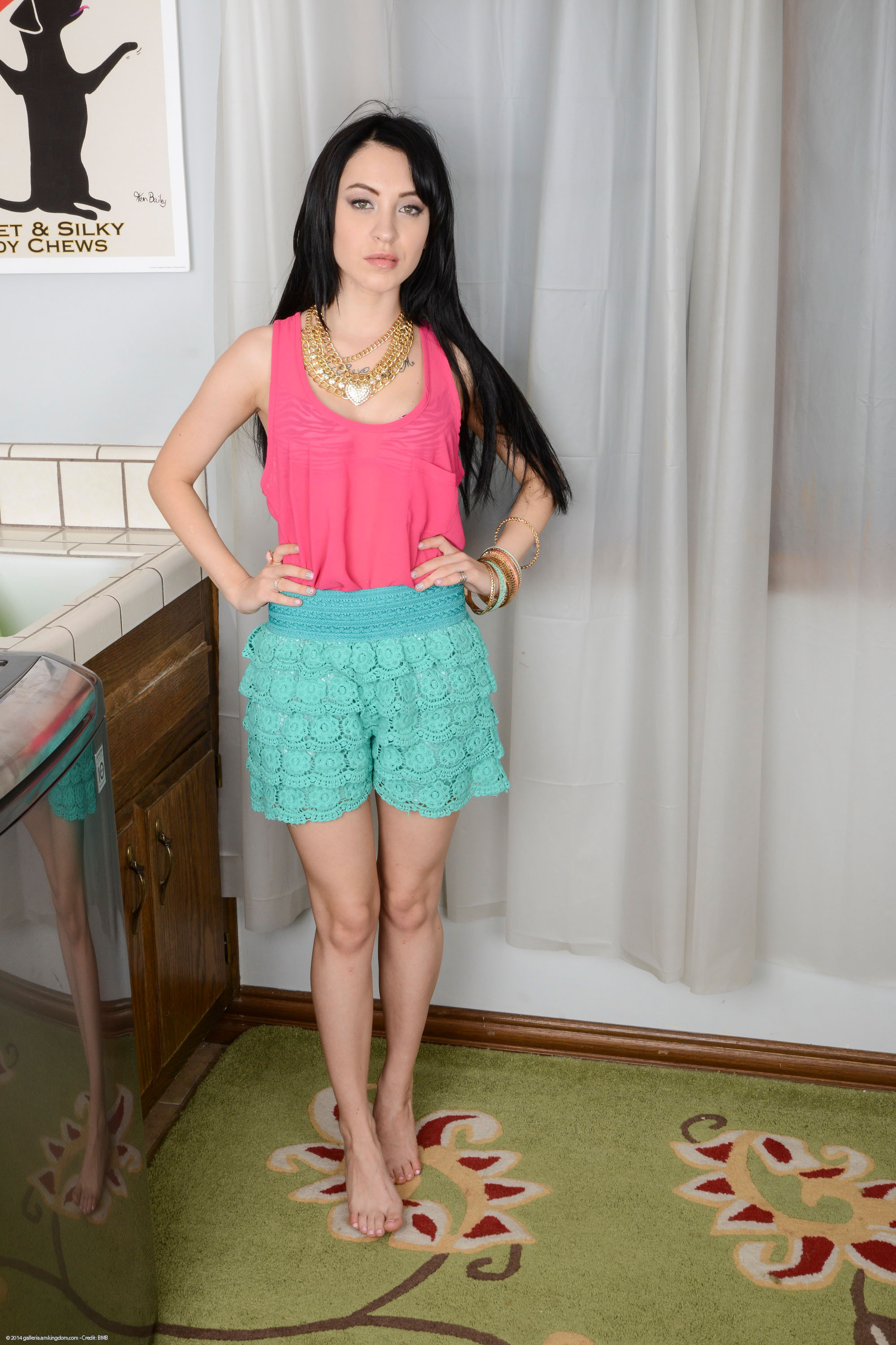 Black-haired teen Sandra Luberc is riding on the long dick so sexy  188838