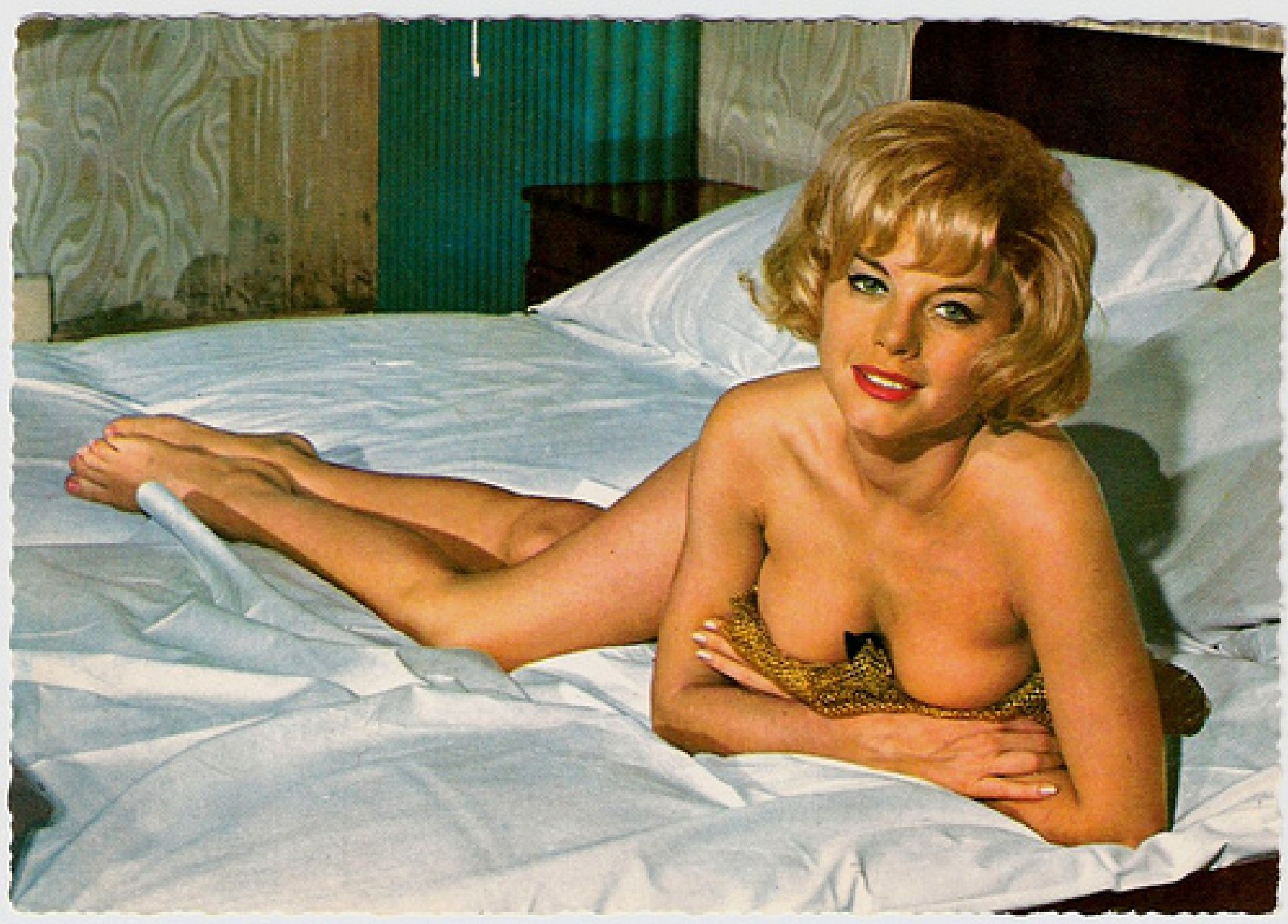 Vintage Pin-Up Post Cards of American and European Film Stars.