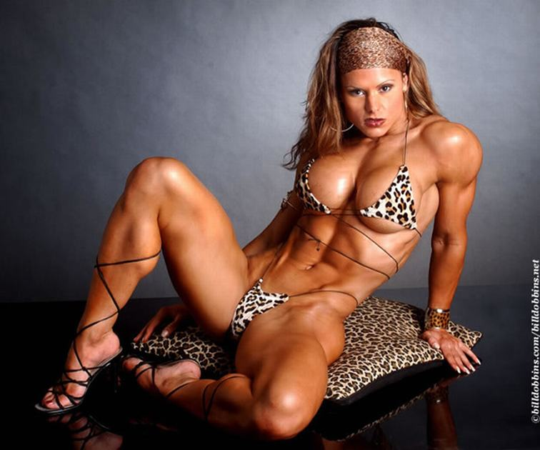Fitness nude sexy woman